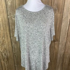 Old Navy Luxe Womens Black Gray White Heathered XL